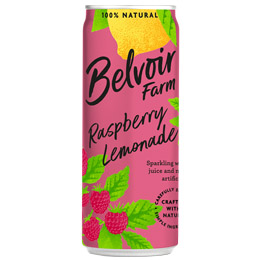 Belvoir Cans - Rasp Lemonade - 12x250ml