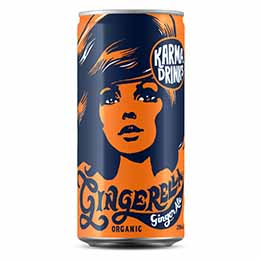 Karma Drinks - Cans - Gingerella Ginger Ale - 24x250ml
