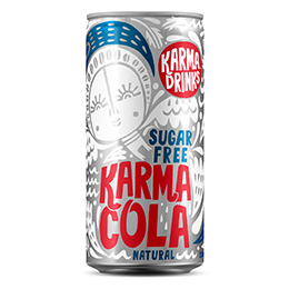 Karma Drinks - Cans - Cola Sugar Free - 24x250ml