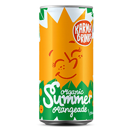 Karma Drinks - Cans - Summer Orangeade - 24x250ml