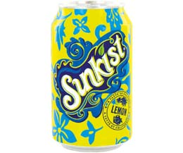 Sunkist Cans - Lemon - 24x330ml