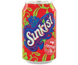 Sunkist Cans - Tropical - 24x330ml