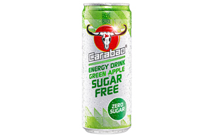 Carabao Cans - Sugar Free Green Apple - 12x330ml