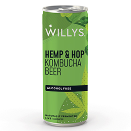 Willy's Kombucha - Hemp & Hop Beer - 12x250ml