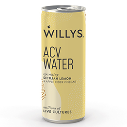 Willy's Sparkling ACV Water - Sicilian Lemon - 12x250ml