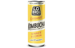 Lo Bros Kombucha Can - Ginger & Lemon - 24x250ml