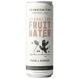Drinksmiths - Sparkling Fruit Water - Pear & Ginger - 12x330ml