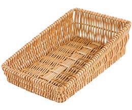 Rdp - Small Sloping Wicker Tray - 420x240x120/60Mm - 1x1