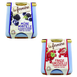 La Fermiere Berry Mix - 6x140g - 3x Blackberry and 3x Strawberry