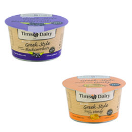 Tims Dairy - Mixed Yoghurt - 6x200g - 3xBlackcurrant 3xHoney