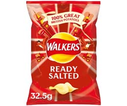 Walkers - Ready Salted - 32x32.5g