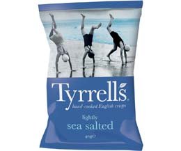 Tyrrells - Lightly Sea Salted - 24x40g