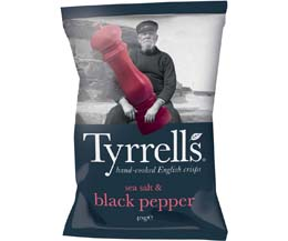 Tyrrells - Sea Salt & Black Pepper - 24x40g