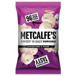 Metcalfes Skinny Popcorn - Sweet 'N' Salt -  24x20g