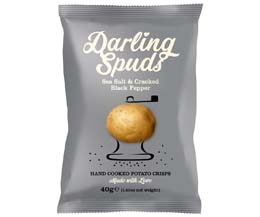 Darling Spuds - Sea Salt & Cracked Black Pepper - 30x40g