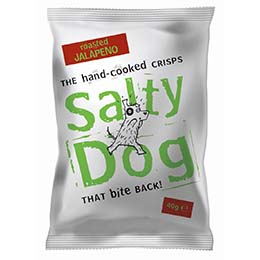 Salty Dog Crisps - Roasted Jalapeno - 30x40g