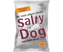 Salty Dog Crisps - Flame Grilled Steak - 30x40g
