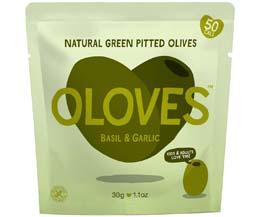 Oloves - Basil & Garlic (Mediterranean) - 10x30g Pouch