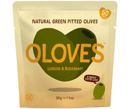 Oloves - Lemon & Rosemary (Lemony Lover) - 10x30g Pouch