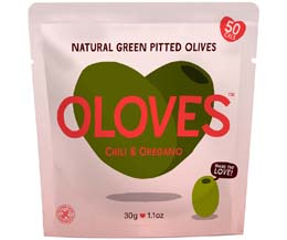 Oloves - Chili & Oregano (Hot Chilli Mama) - 10x30g Pouch