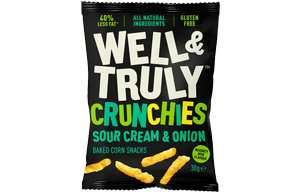 Well & Truly Crunchies - Sour Cream & Onion - 10x30g