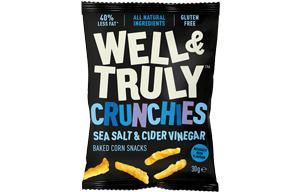 Well & Truly Crunchies - Sea Salt & Cider Vinegar - 10x30g