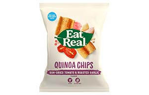 Eat Real - Quinoa Chips - Sundried Tomato & Garlic - 12x30g