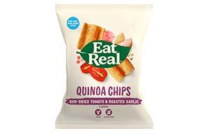 Eat Real - Quinoa Chips - Sundried Tomato & Garlic - 12x30g