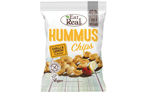 Eat Real - Hummus Chips - Chilli & Lemon - 12x45g