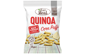 Eat Real - Quinoa & Corn Puff - White Cheddar - 12x40g