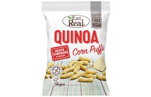 Eat Real - Quinoa & Corn Puff - White Cheddar - 12x40g