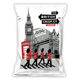 British Crisps - Sea Salt & Black Pepper - 26x40g