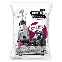 British Crisps - Roast Beef - 26x40g
