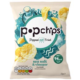 Popchips - Salt & Vinegar - 24x23G