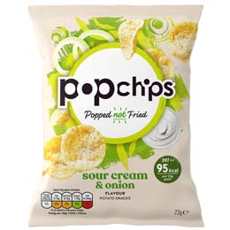 Popchips - Sour Cream & Onion - 24x23G