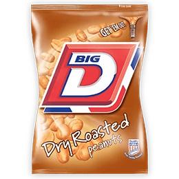 Big D - Dry Roasted Peanuts - 24x50g Card