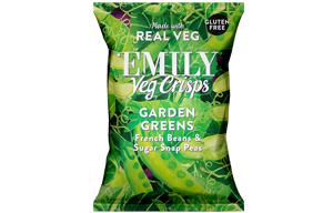 Emily Veg Crisps - Spring Greens - 12x23g