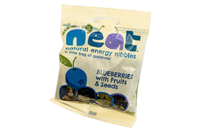 N'eat Nibbles Dried Blueberries, Raisins & Seeds - 12x50g