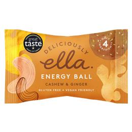 Deliciously Ella Energy Ball - Cashew & Ginger - 12x40g