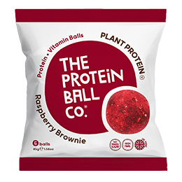 The Protein Ball Co - Raspberry Brownie - Bags - 10x45g