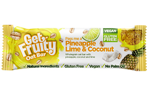 Get Fruity Bars - Tangy Pineapple,Coconut & Lime - 25x35g