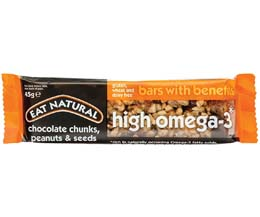 Eat Natural - High Omega 3 (Choc, Peanut & Seed) - 12x45g