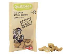 Quibbles - Sour Cream & Onion Cashews - 28x30g