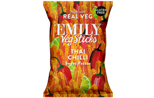 Emily Crisps - Sweet Potato Sticks Chilli & Lime - 12x35g