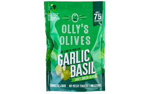 Olly'S Olives - The Connoisseur - Garlic & Basil -12x50g
