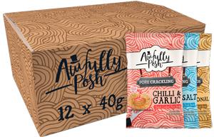 Awfully Posh Scratchings - Mixed Case (AP14) - 12x40g