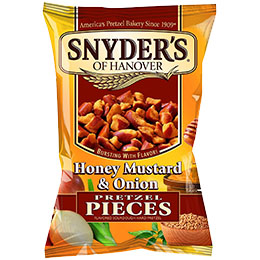 Snyders Pretzels - Pub Card - Honey & Mustard 1x12