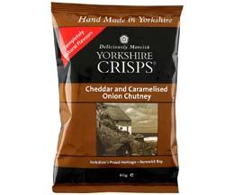 Yorkshire Crisp - Cheddar & Caramelised Onion Chutney-24x40g
