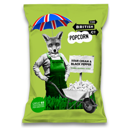 London Popcorn - Sour Cream & Black Pepper - 24x30g