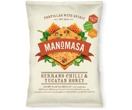 Manomasa Corn Chips - Serrano Chilli & Yucatan Honey-16x40g